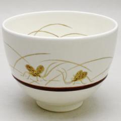 【茶器/茶道具 抹茶茶碗】 白釉 鈴虫 胴締め 小野山若水作