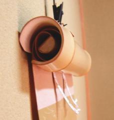 【茶器/茶道具 掛軸】 軸巻上げ(軸巻き上げ) 白 国産竹製 内巻使用 良斎作