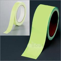 中輝度蓄光式テープ50mm幅×10m巻No:824-51 ユニット 避難誘導