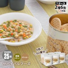 非常食セット サバイバルフーズ 大缶ファミリー6缶セット[約60食相当]