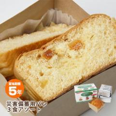 非常食災害備蓄用パンアルミパック3食アソート[オレンジ・黒豆・プチヴェール]