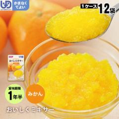 介護食 おいしくミキサー デザートみかん×12袋セット ホリカフーズ レトルトミキサー食 フルーツ デザート