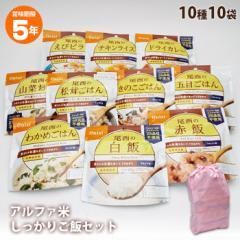 非常食 尾西食品のアルファ米10種 しっかりご飯セット