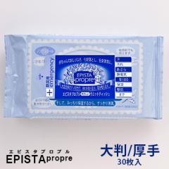 エピスタプロプル やさしいウェットティッシュ 大判・厚手 Lタイプ [無香料 30枚入り]