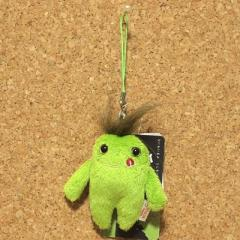 Mokeke(モケケ)チモッケ ストラップ(ネル/グリーン) 07167/小さめのマスコット 携帯ストラップ 可愛いキャラクター
