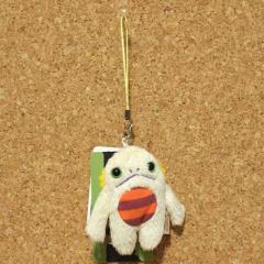 Mokeke(モケケ)チモッケ ストラップ(ペタコン/アイボリー) 07169/小さめのマスコット 携帯ストラップ 可愛いキャラクター