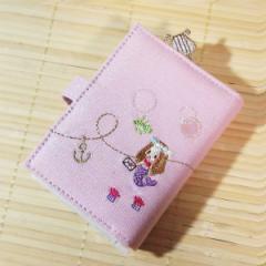 プチフルール ブック型カードケース(人魚姫/ラメピンク) 09015/カード28枚収納可 小さめ