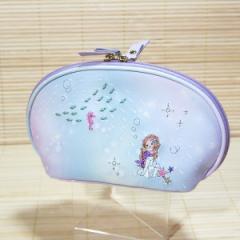 プチフルール ラウンドファスナーポーチ(人魚姫)19276/フェアリーテイル シェル型ポーチ