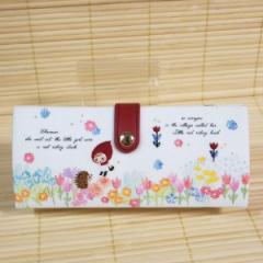 フェアリーテイル メガネケース(赤ずきん)49721/花柄 三角型 眼鏡クロス付き Fairytail 赤