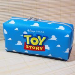 ディズニーキャラクター BOXペンケース(トイ・ストーリー) 63350/筆箱 ロゴ立体刺しゅう ポーチ ブルー くも ブルー