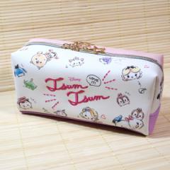 ディズニー(DISNEY)キャラクター BOXペンケース(ツムツム) 63352/筆箱 ロゴ刺しゅう チラシ柄