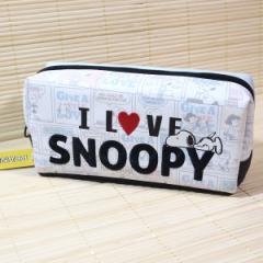 スヌーピー(SNOOPY) BOX型ペンポーチ 63353/ロゴ刺しゅう 可愛い筆箱 ポーチ 文房具 ペンケース ポーチ