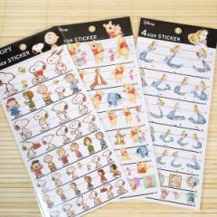 キャラクターシール 4サイズステッカー3枚セット(アリス&くまのプーさん&スヌーピー) 63562-5-6/可愛いシール