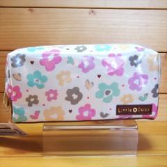 デイジー柄 BOX型ペンケース(Little Daisy)70892/筆箱 ペンポーチ 文房具 ペン入れ 花柄