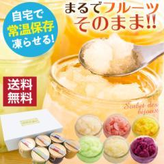 お中元 ギフト アイス フルーツシャーベット 6種類セット  常温保存 凍らせて食べる 自宅で凍らせる  アイスクリーム スイーツ プレゼン