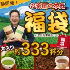福袋 粉末 お茶 緑茶 ほうじ茶 静岡茶 詰め合せ 2020 大入り粉末茶セット(粉末緑茶100g×1袋、ほうじ茶粉末100g×1袋) 送料無料 新春 お