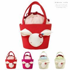 七五三 バッグ うさぎ 可愛い 巾着 赤 ピンク 白 女の子 子供用