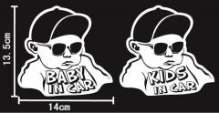 COOL BABY KIDS IN CAR3「サイズ13.5x14」クール ベビー キッズ インカー ステッカー