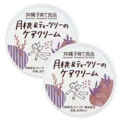 沖縄子育て良品 月桃&ティツリーのケアクリーム (25g)×2個組