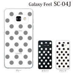 スマホケース SC-04J Galaxy Feel sc-04j ギャラクシー カバー ハード/ケース/docomo/クリア ドット柄 水玉 クリアタイプ