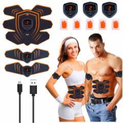 EMS 腹筋ベルト EMS腹筋 腹筋 筋肉トナー 筋肉 ダイエット器具 EMS パッド ジェル EMS腹筋ベルト USB充電式