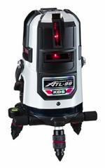 KDS 高輝度レーザー墨出器 ATL-96RSA 本体+受光器(LRV-4)+三脚(LEC-4M) 高精度±1mm/10m ライン固定モード 4方向たち・全方向水平・地墨