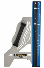 シンワ 丸ノコガイド定規 エルアングル Plus 45cm 併用目盛 73150 スライド・ストップシステム ワイドヘキサグリップ 特殊中空形状