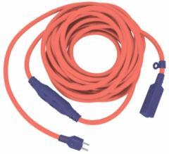フジマック 太いセブンタップコード 10m 7B-2010-OR オレンジ 中間タップ付延長コード 中間タップ3コンセント+先端タップ4コンセント 15A