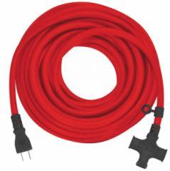 フジマック 極太延長コード 10m CE-3510 通常延長コードの約3倍の太さ 3.5sq 15A VCT3.5 2芯 十字タップ3つ口 FUJIMAC