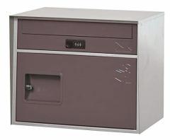 直送・代引不可 KGY工業 宅配ボックス リシム キューブ THB-CB2 BR ブラウン 前入れ前出し 本体サイズH330xW405xD320mm 本体重量約5.0kg