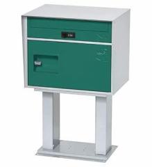 直送・代引不可 KGY工業 宅配ボックス リシム キューブ スタンド付 THS-CB2 GR グリーン 前入れ前出し 本体サイズH640xW405xD320mm 本体