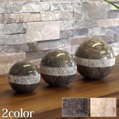 Marble Sphere (dots design) 3set(2色展開)   おしゃれ オブジェ ボール 大理石 ストーン インテリア モダン ショールーム バリ雑貨 ア