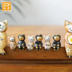 バリネコS用の子猫単品 メール便対応可 猫グッズ 雑貨 プレゼント 猫雑貨 バリ猫 置物