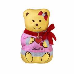 リンツ チョコレート Lindt クリスマス限定  リンツテディフレンズ ピンク 100g |お菓子 リンツチョコレート かわいい リンツチョコ 輸