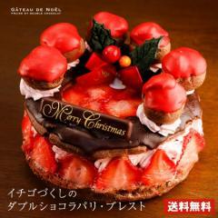 ケーキ クリスマスケーキ 送料無料 チョコレートケーキ イチゴづくしのダブルショコラパリブレスト 5号 ギフト 2019 予約