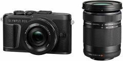 オリンパス ミラーレス 一眼カメラ PEN E-PL10 EZ OLYMPUS 小型 軽量 ブラック ダブルズームキットBK