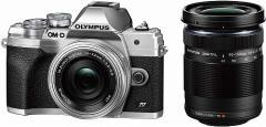 OLYMPUS ミラーレス一眼カメラ OM-D E-M10 MarkIV EZダブルズームキット シルバー
