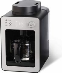 全自動コーヒーメーカー カフェばこ シルバー シロカ SC-A351