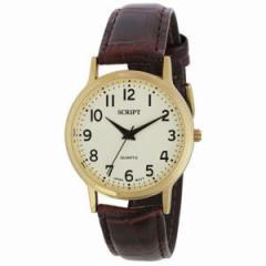 腕時計 SCRIPT スクリプト  ゴールド サンフレイム SSG08-GY