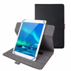 エレコム タブレット汎用ブックタイプケース/ソフトレザー/360度回転/8.5〜10.5inch/ブラック TB-10360BK