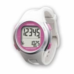 腕時計 万歩計 ホワイトピンク スモールタイプ 女性 ヤマサ TM-450