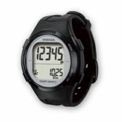腕時計 歩数計 電波 ブラック シルバー ヤマサ TM-500