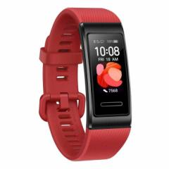 スマートウォッチ タッチスクリーン+タッチキー 6軸センサー 光学式心拍センサー 装着検知センサー(赤外線センサー) シナバーレッド HUAW