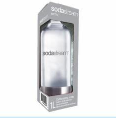 新品 ソーダストリーム ソーダメーカー用ボンベ 専用ボトル(1,000ml×1本) メタル SSB0001