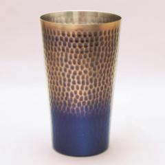 王輝 銅製鎚目タンブラー(大)満水容量約500ml