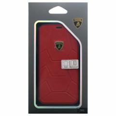 Lamborghini 公式ライセンス品 iPhoneX専用 本革手帳型ケース Aventador-D7 Book type RDLB-TPUFCIPX-AV/D7-RD