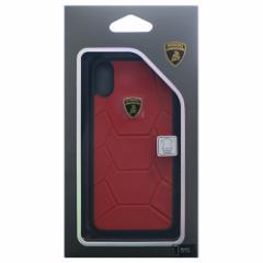 Lamborghini 公式ライセンス品 iPhoneX専用 本革ハードケース Aventador-D7 Back cover RDLB-TPUPCIPX-AV/D7-RD