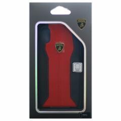 Lamborghini 公式ライセンス品 iPhoneX専用 本革ハードケース Huracan-D1 Back cover RDLB-HCIPX-HU/D1-RD