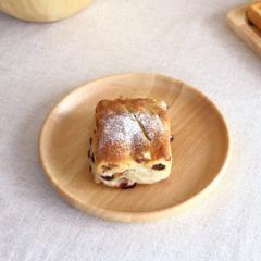 ナチュラルウッド ラウンドプレート 20cm 中皿 取り皿 丸皿 プレート パン皿 モーニングプレート トレー 木製 ウッドプレート 木の食器