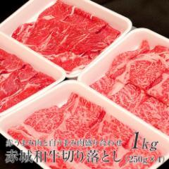 お歳暮 ギフト 赤城和 牛切り落とし 赤うまみ肉と白うまみ肉盛り合わせ1kg 250g×4パック 【冷凍】